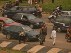 Heavy Shooting infron of Ekiti state Government House