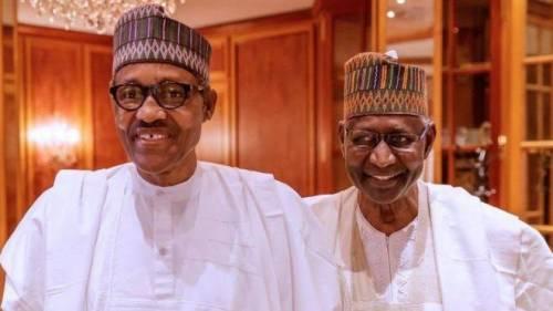 Abba Kyari and president Buhari