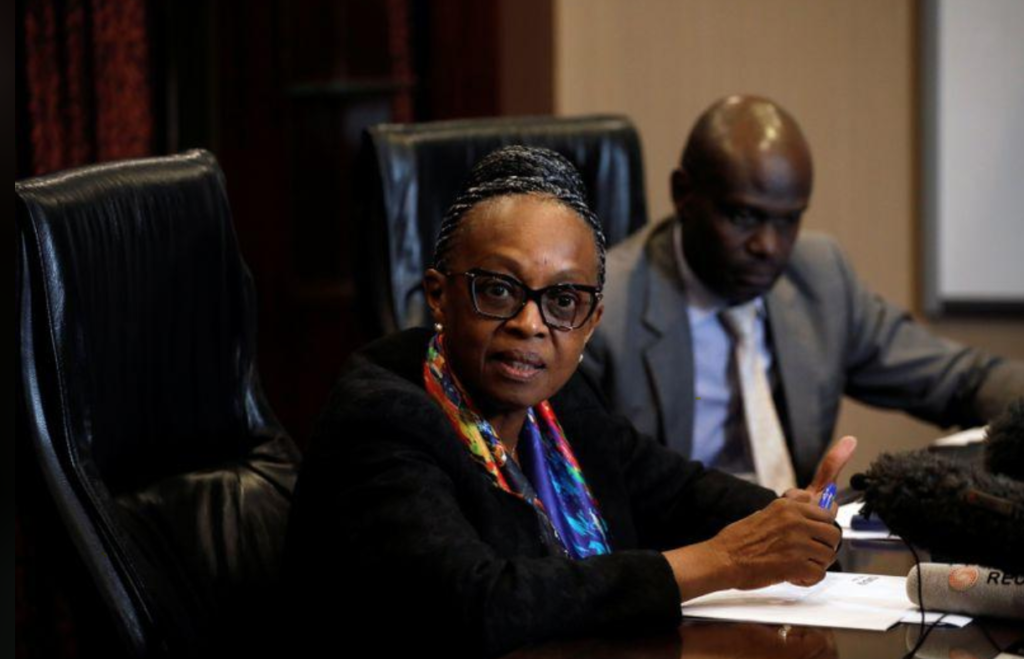 World Health Organization (WHO) Regional Director for Africa Matshidiso Moeti speaks during a news briefing in Nairobi, Kenya March 2, 2020