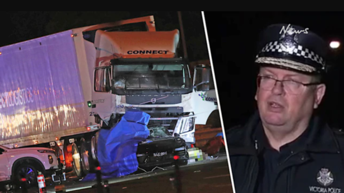 Four Australian police officers dead after fatal truck crash in Melbourne highway