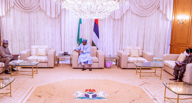 Buhari meets with the Nigerian Presidential Task Force on Covid-19