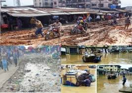 Deplorable state of roads in Abia state especially Aba