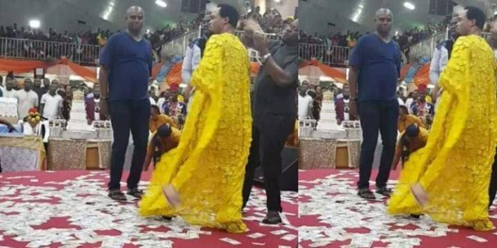 Odumeje spraying money in church